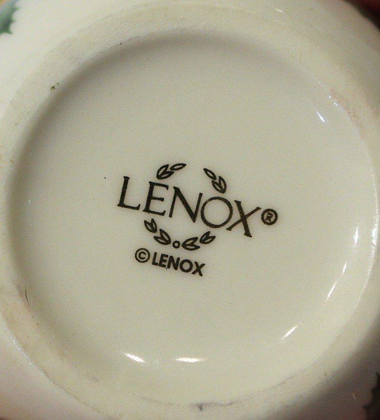 Nine [9] Assorted LENOX PORCELAIN MINIATURE TEA POTS - 6