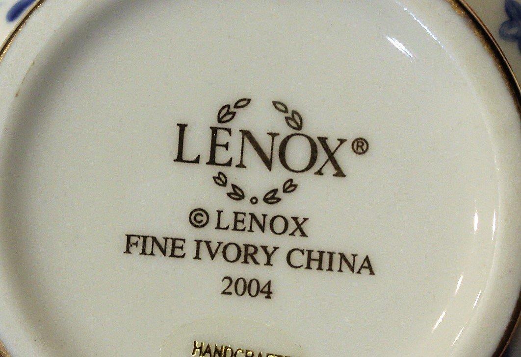 Nine [9] Assorted LENOX PORCELAIN MINIATURE TEA POTS - 7