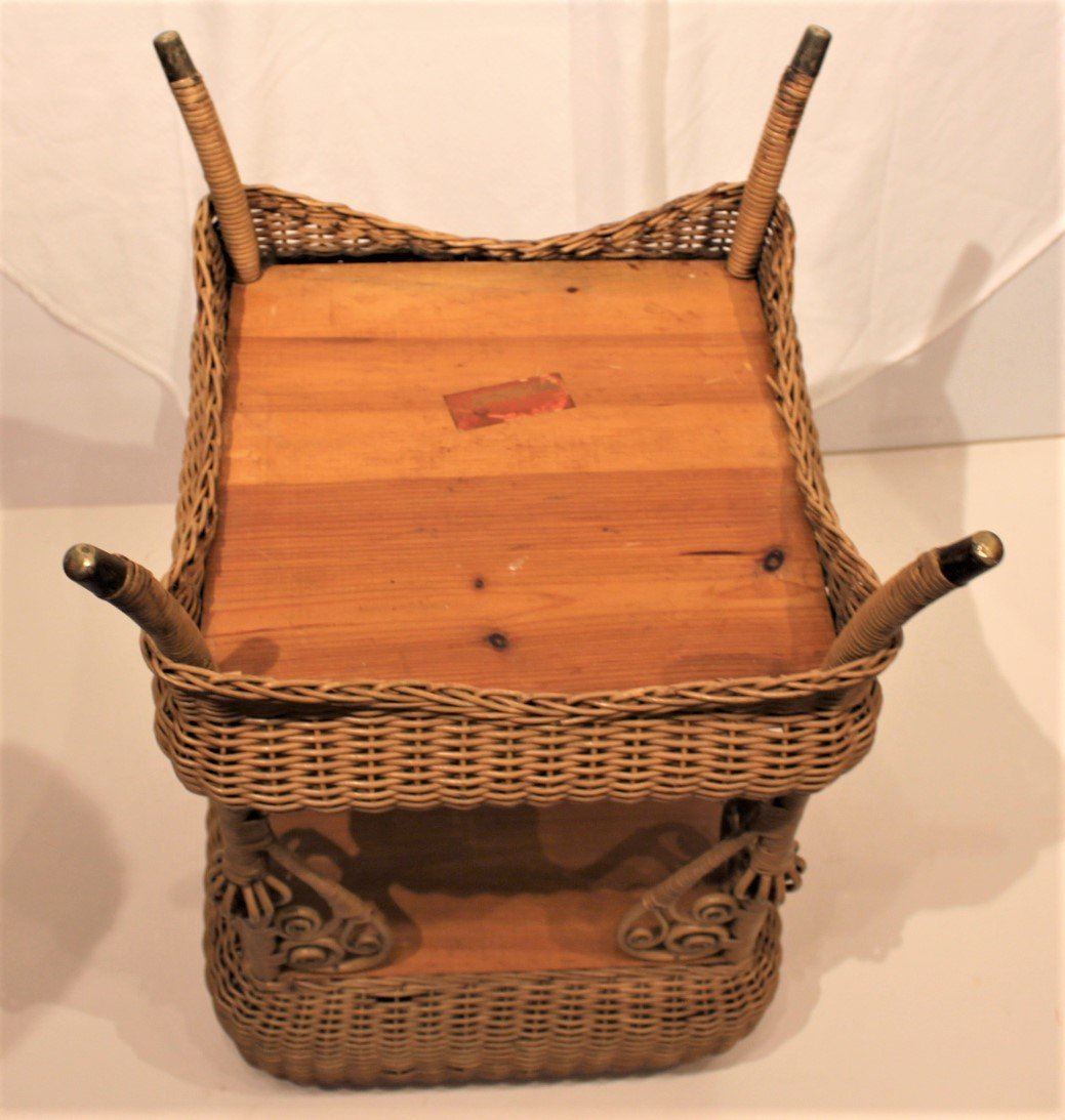 Heywood Brothers And Wakefield WICKER SEWING STAND - 7