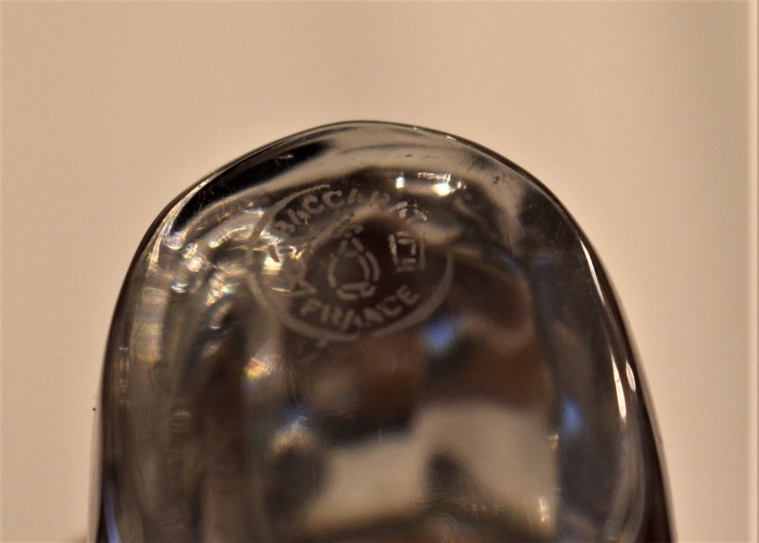 BACCARAT FRANCE Crystal Glass SQUIRREL FIGURINE Signed - 5