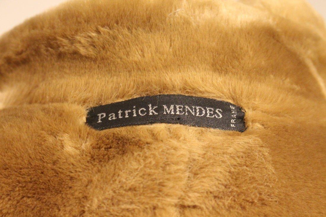 PATRICK MENDEZ France TAN SWEDE AND FAUX FUR COAT - 6