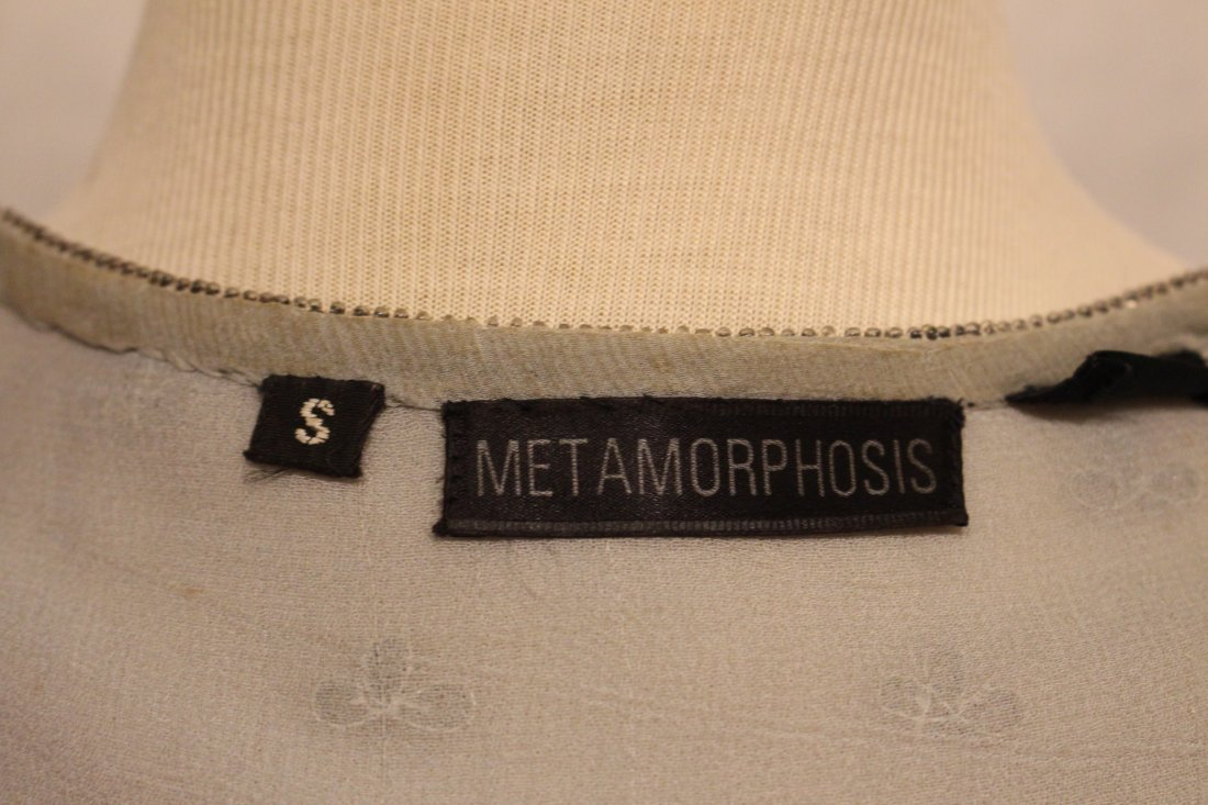 METAMORPHOSIS 2-Pc EVENING SHIRT AND BLOUSE Sequin Bead - 5