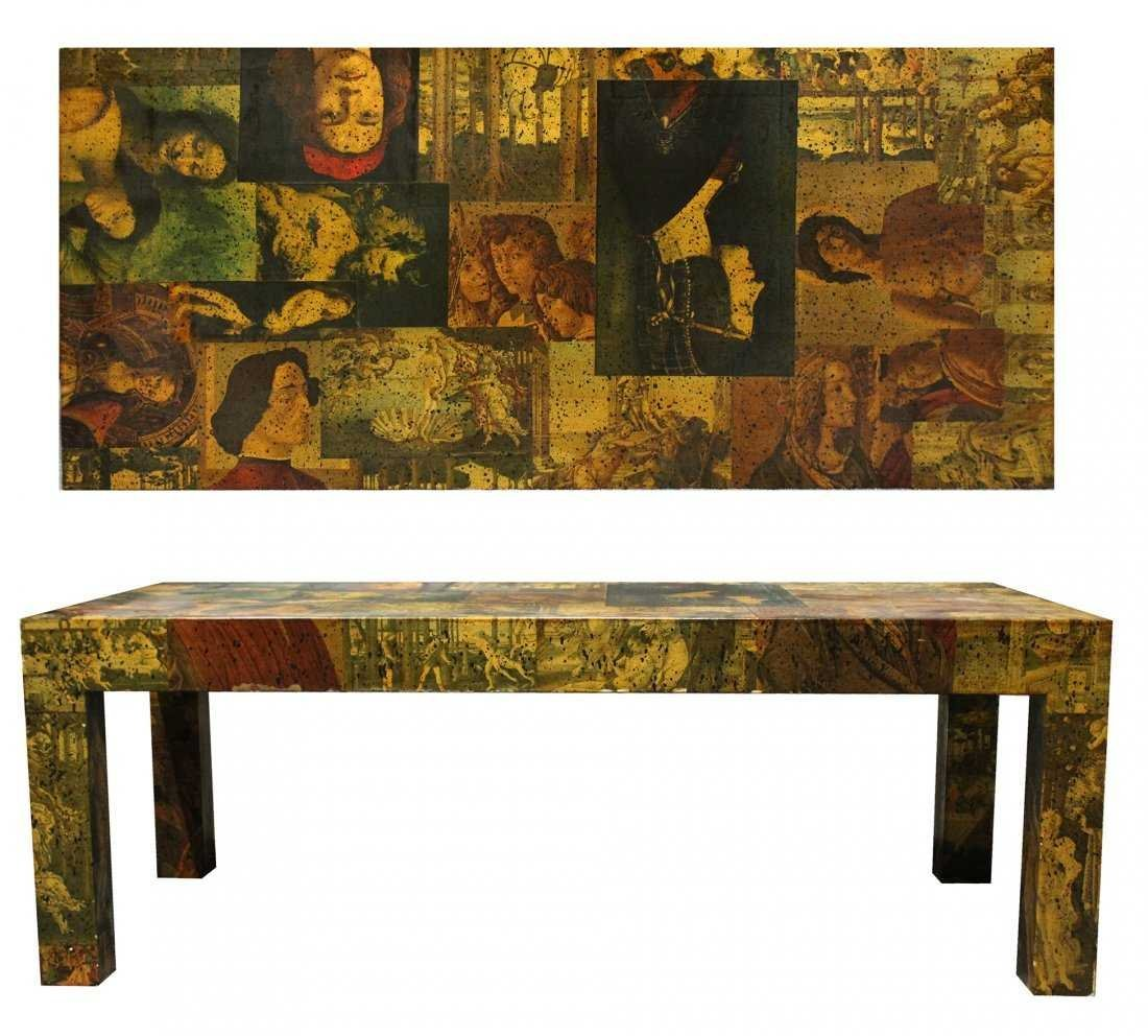 Mid-Century Modern DECOUPAGE COFFEE TABLE
