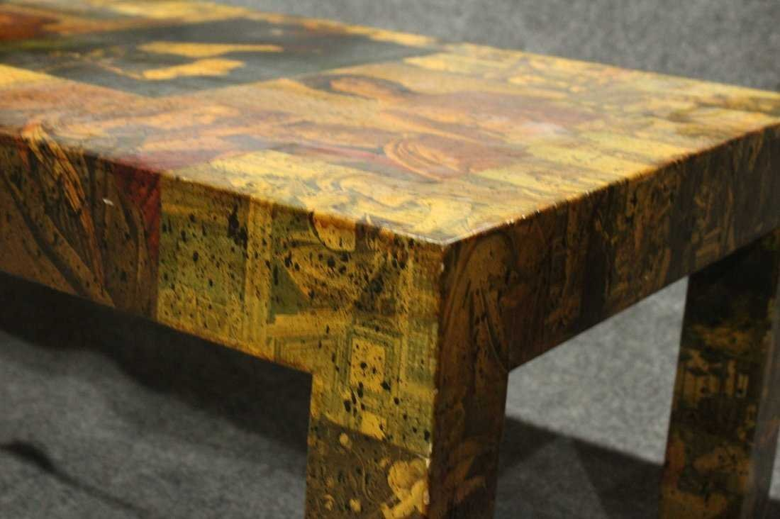 Mid-Century Modern DECOUPAGE COFFEE TABLE - 2