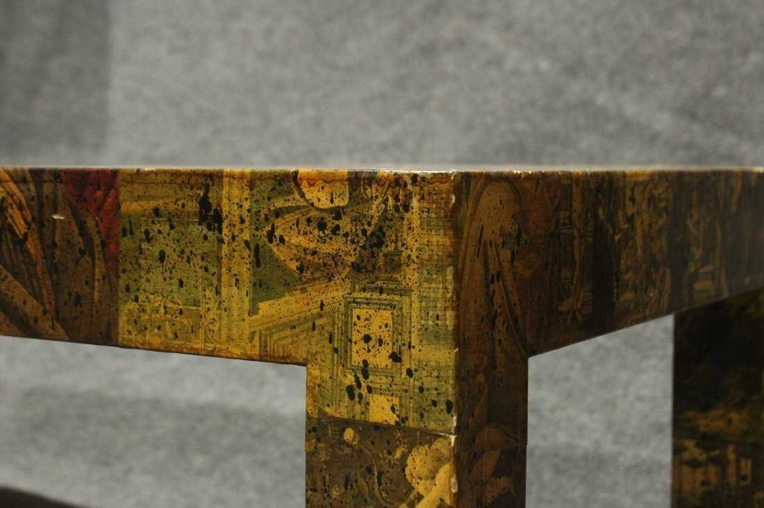 Mid-Century Modern DECOUPAGE COFFEE TABLE - 3