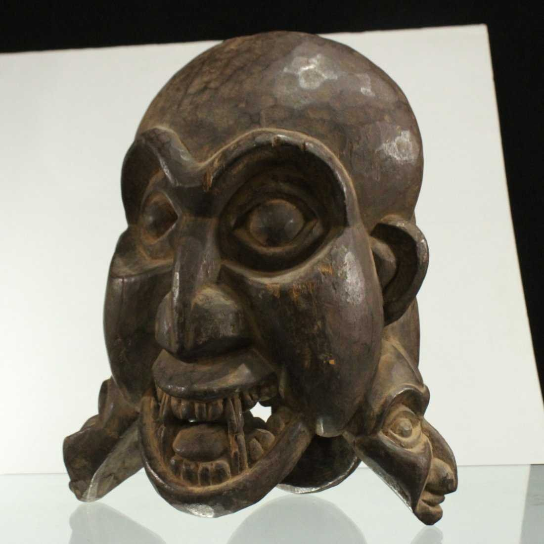 AFRICAN CEREMONIAL FULL HEAD MASK - Hand Carved