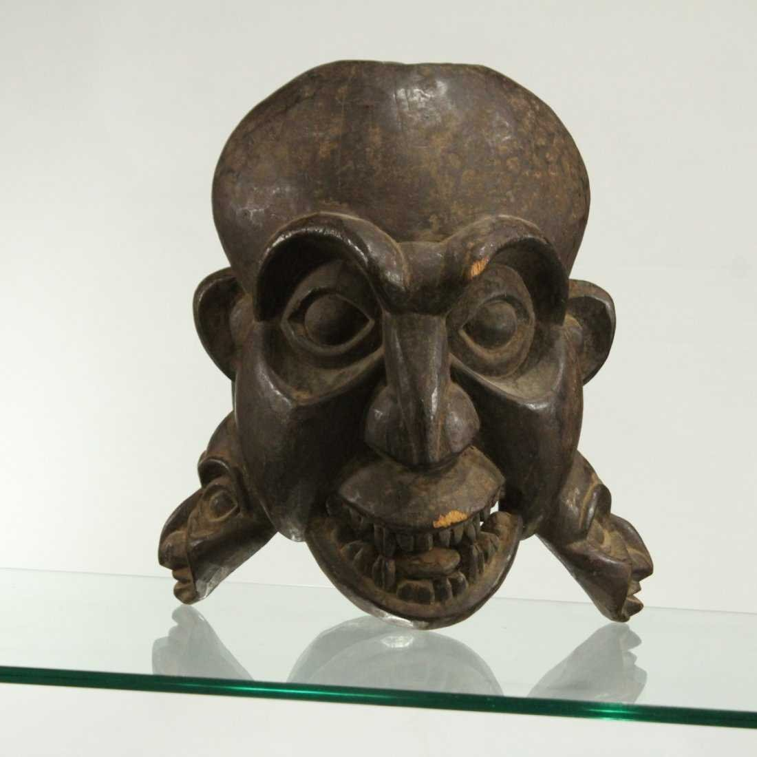AFRICAN CEREMONIAL FULL HEAD MASK - Hand Carved - 2