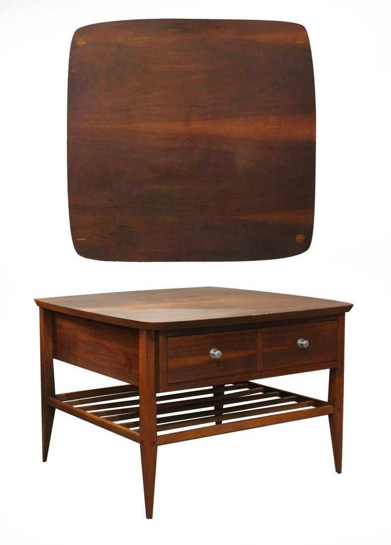 "Mid-Century Modern ""LANE"" ONE DRAWER OCCASIONAL TABLE"