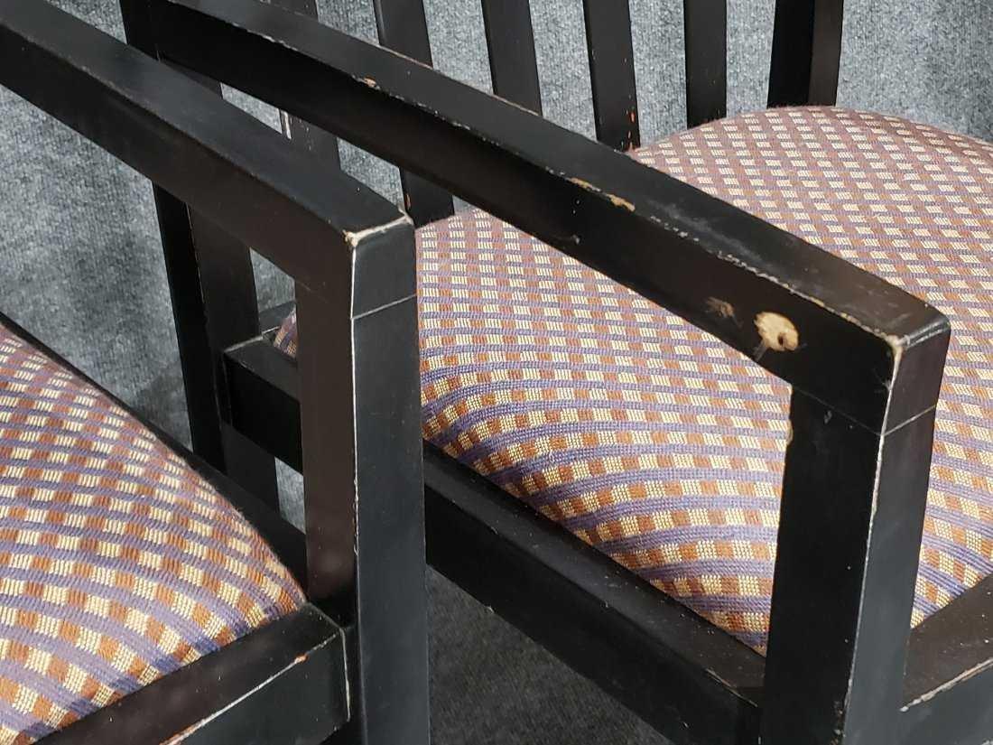 KNOLL STUDIO - Two [2] Ebony Modernism Arm Chairs - 3