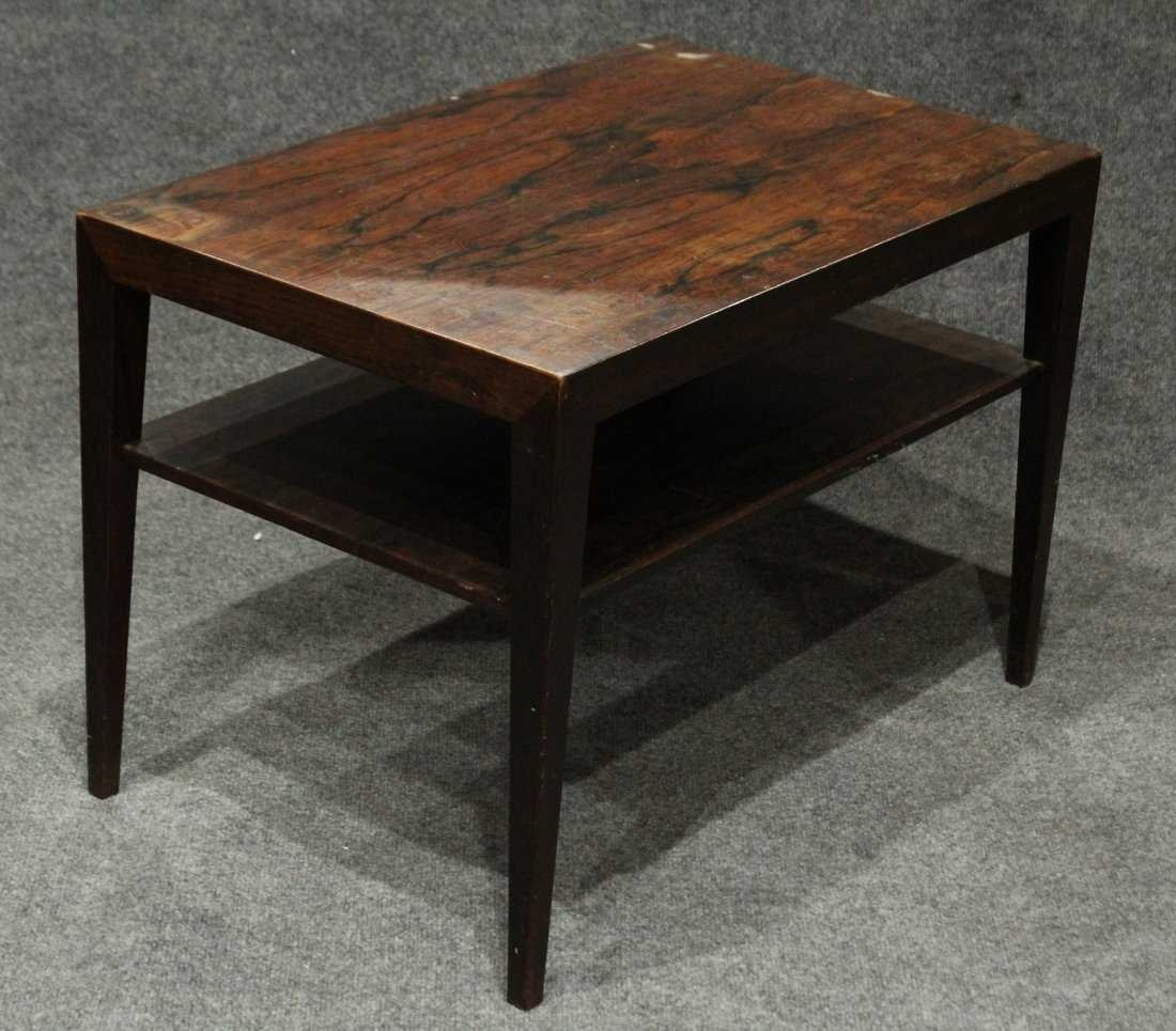 Mid-Century DANISH MODERN ROSEWOOD OCCASIONAL STAND - 5