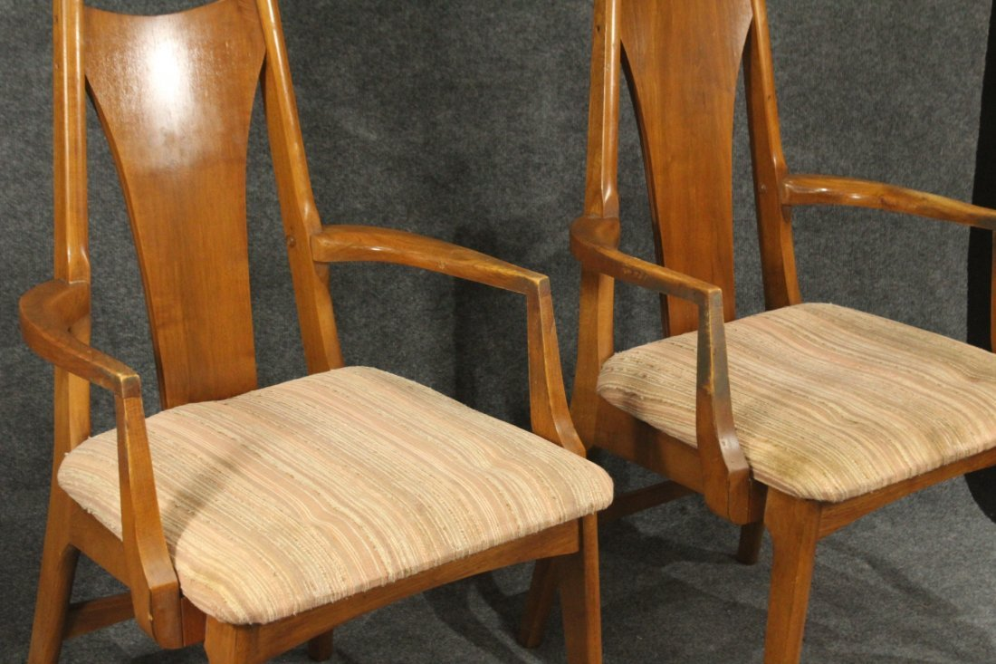 Six [6] Mid-Century Modern HIGH BACK DINING ROOM CHAIRS - 2