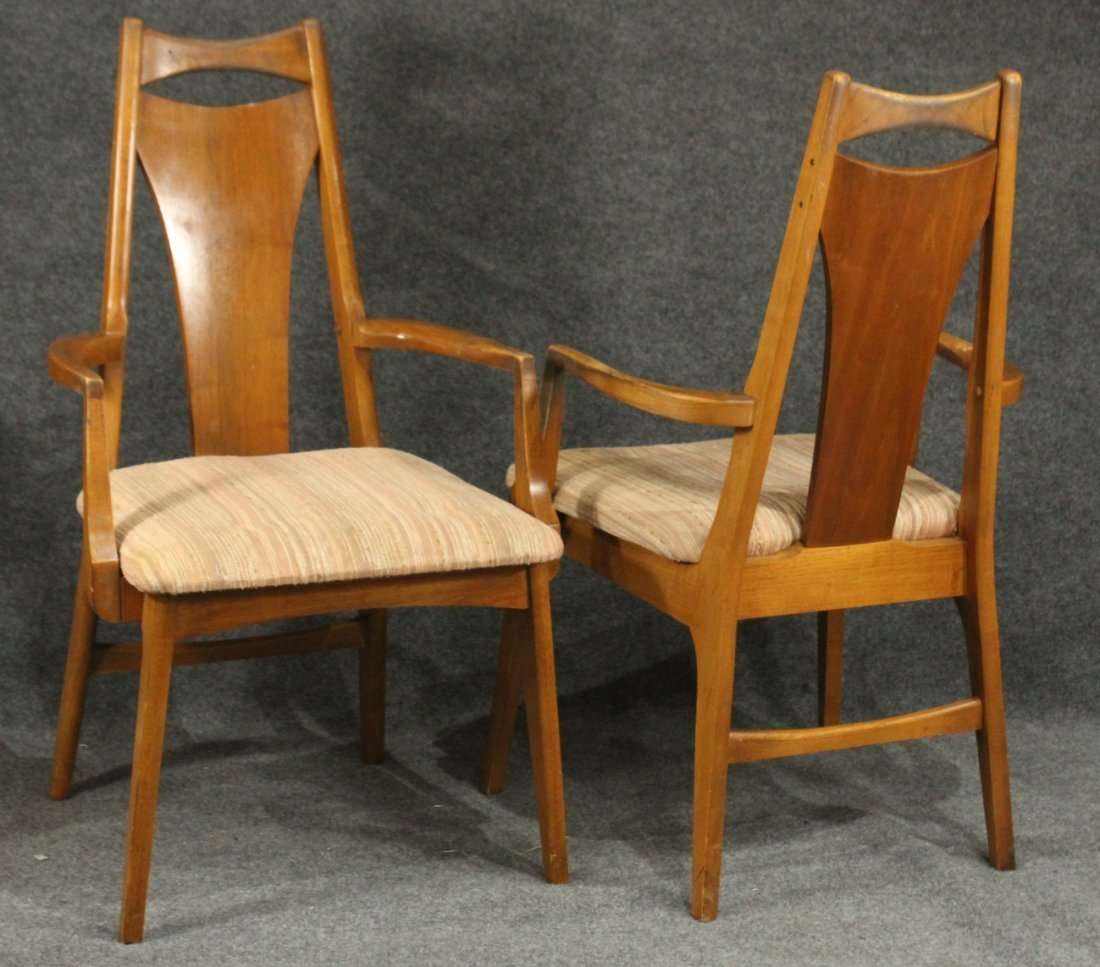 Six [6] Mid-Century Modern HIGH BACK DINING ROOM CHAIRS - 3