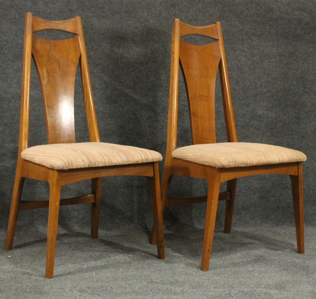 Six [6] Mid-Century Modern HIGH BACK DINING ROOM CHAIRS - 4
