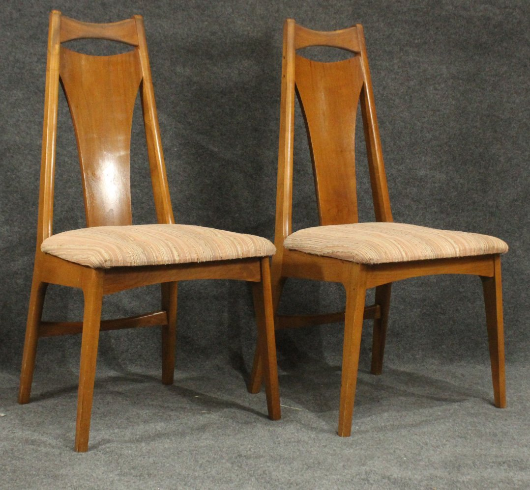 Six [6] Mid-Century Modern HIGH BACK DINING ROOM CHAIRS - 5