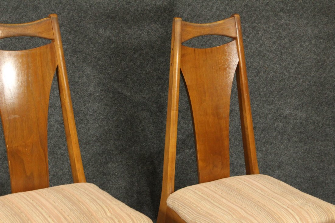Six [6] Mid-Century Modern HIGH BACK DINING ROOM CHAIRS - 6