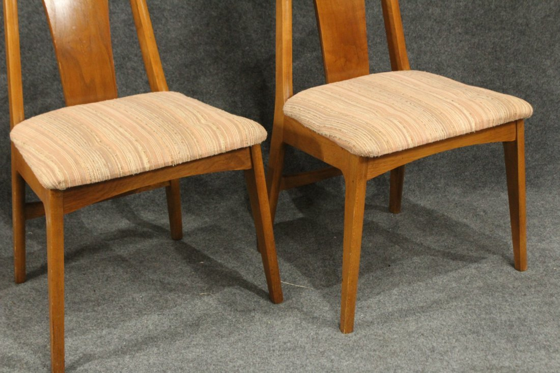 Six [6] Mid-Century Modern HIGH BACK DINING ROOM CHAIRS - 7