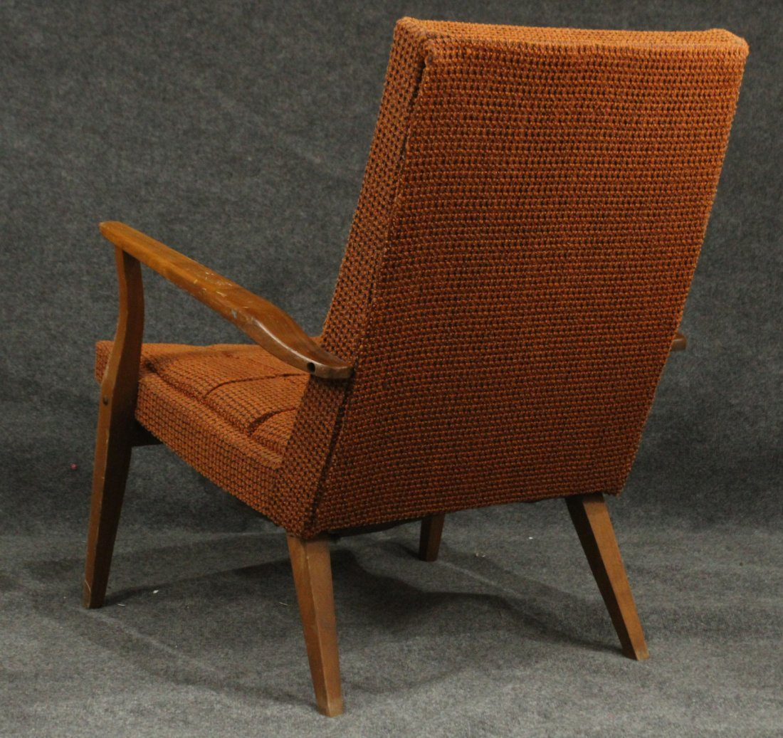 Mid-Century DANISH DESIGN LOUNGE CHAIR Orange Upholster - 4