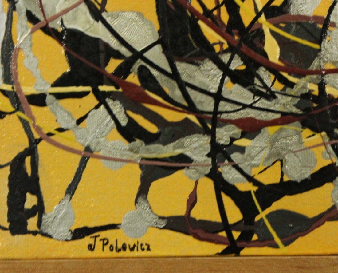 J POLOWICZ, Polish Artist Mid-Century Modern ABSTRACT - 2