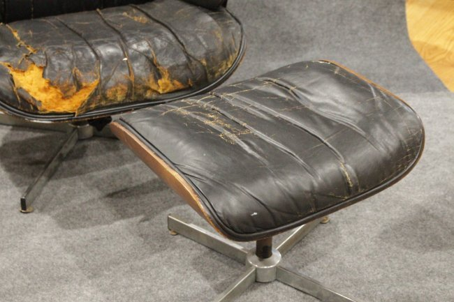 HERMAN MILLER - EAMES STYLE Lounge Chair With Ottoman - 4
