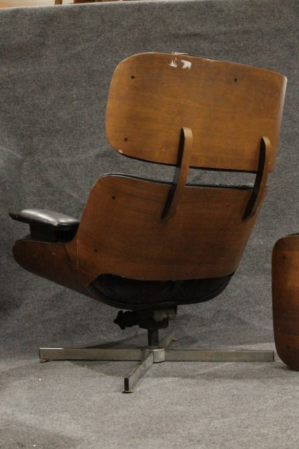 HERMAN MILLER - EAMES STYLE Lounge Chair With Ottoman - 5