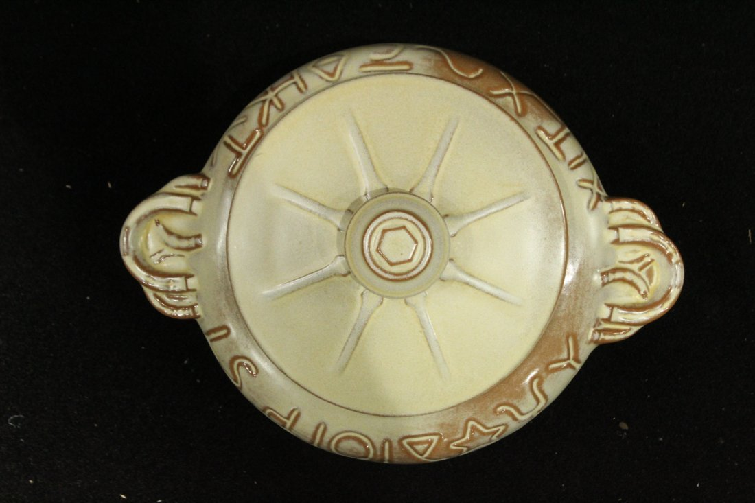 FRANKOMA Mid-Century POTTERY COVERED CASSEROLE BOWL - 2