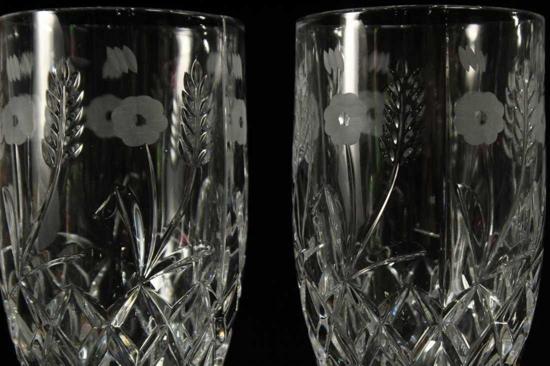 Six [6] FINE CUT ETCHED CRYSTAL GLASS STEMWARE - 3