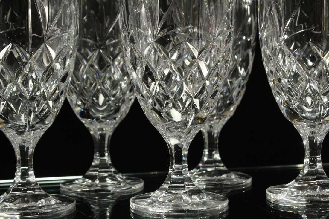 Six [6] FINE CUT ETCHED CRYSTAL GLASS STEMWARE - 4