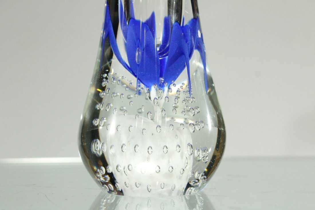 ANTHONY DEPALMA Studio Art Glass Vase BUBBLES BASE - 2