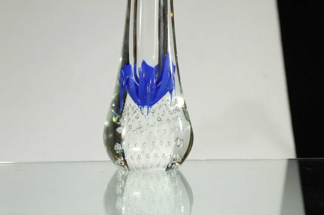 ANTHONY DEPALMA Studio Art Glass Vase BUBBLES BASE - 5