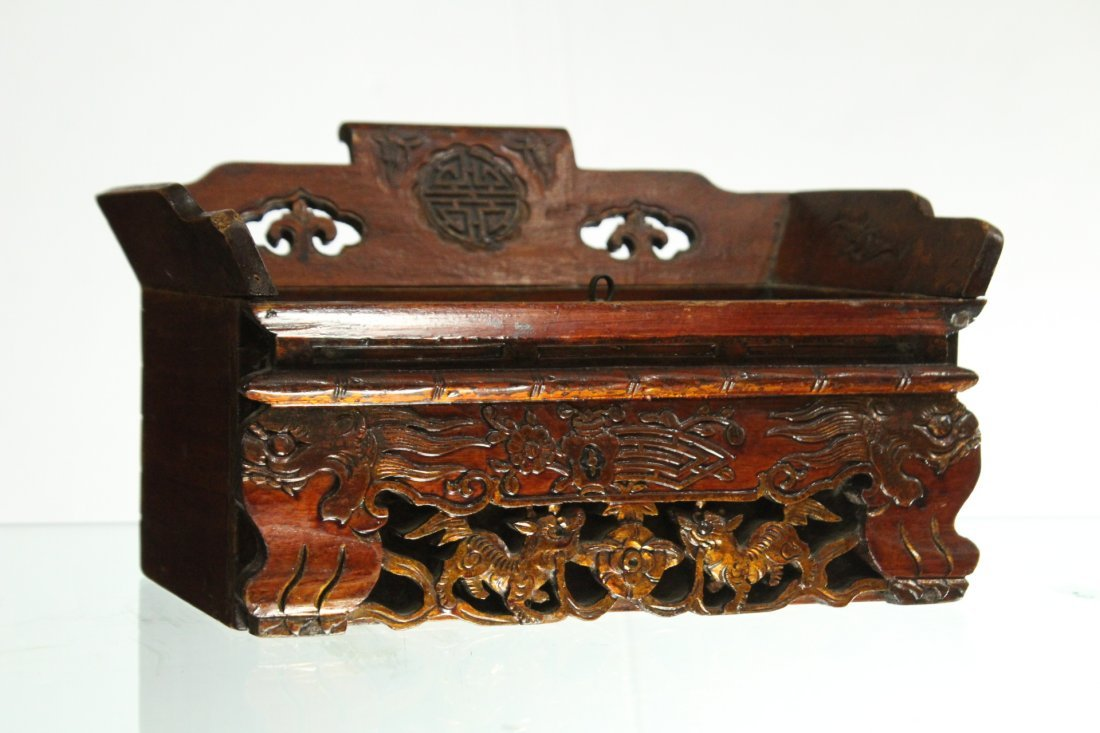Antique Oriental Asian Trinket box with side drawer