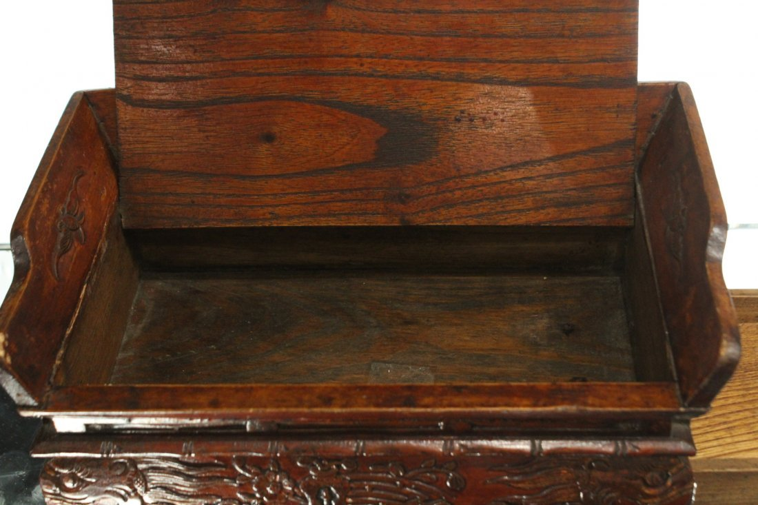 Antique Oriental Asian Trinket box with side drawer - 4