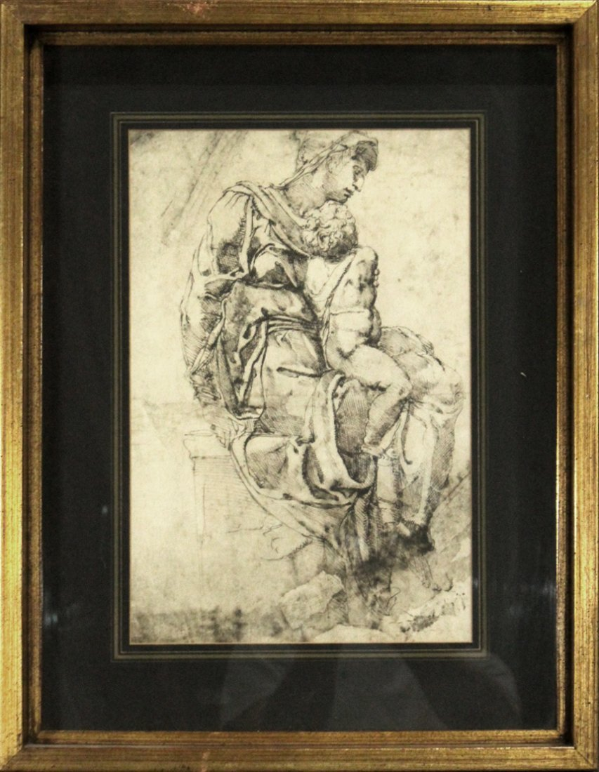CLASSICAL MOTHER AND CHILD PRINT LITHOGRAPH
