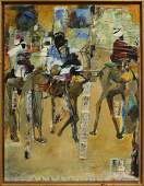 Billy Soza War Soldier, Large Oil/c Ceremonial Parade