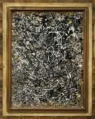 Jackson Pollock Style MidCentury Mod Drip Art Painting