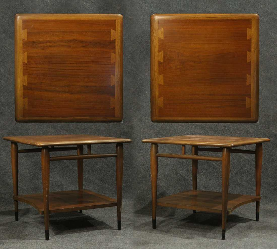 Two 2 Lane Mid Century End Stands Butterfly Dovetail