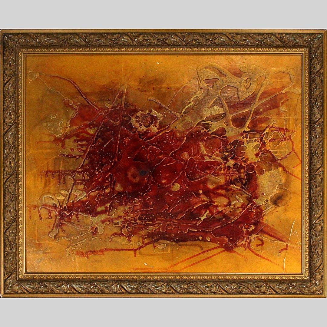 Von Rudolf Karza [Karu], 1970's Abstract Signed, Dated