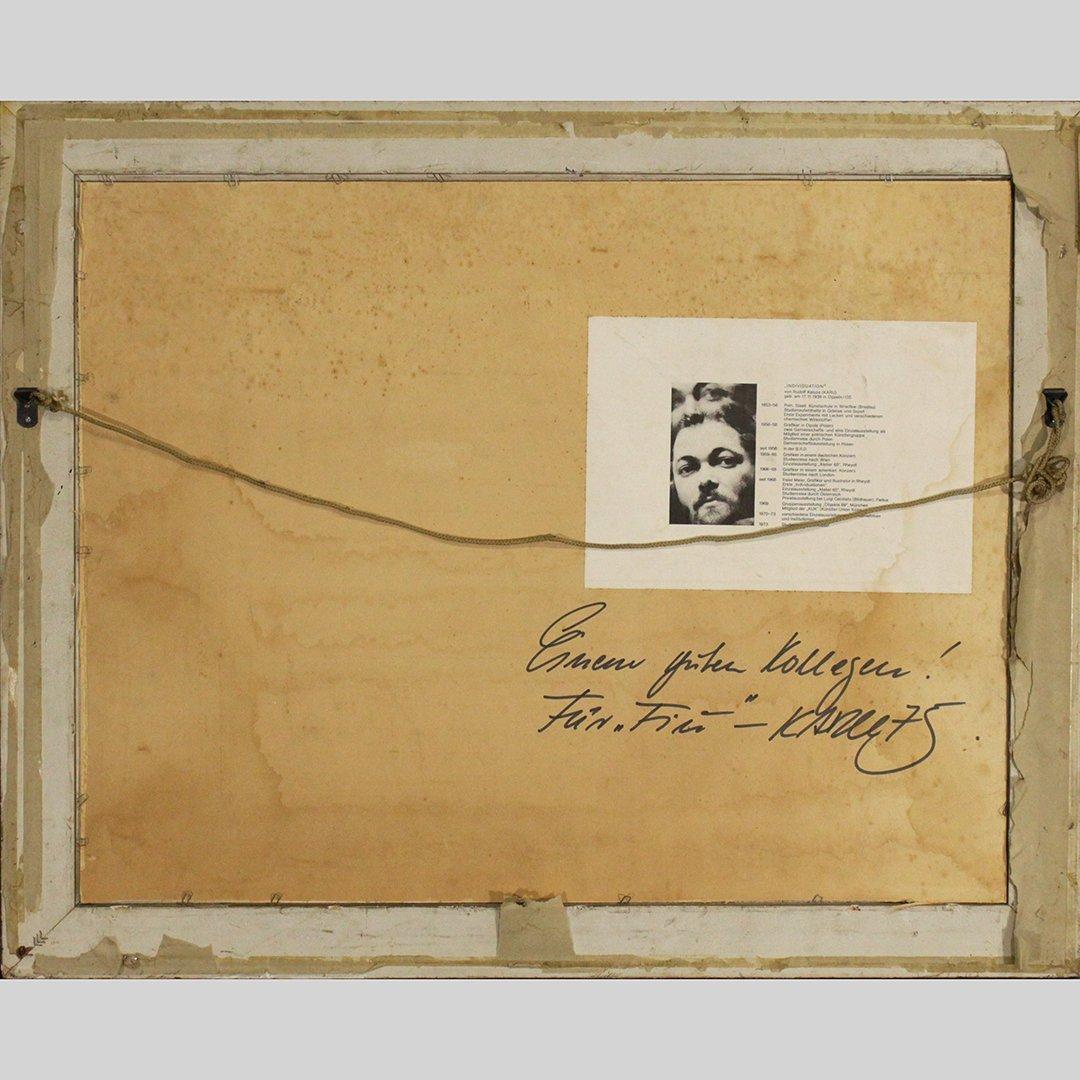 Von Rudolf Karza [Karu], 1970's Abstract Signed, Dated - 3