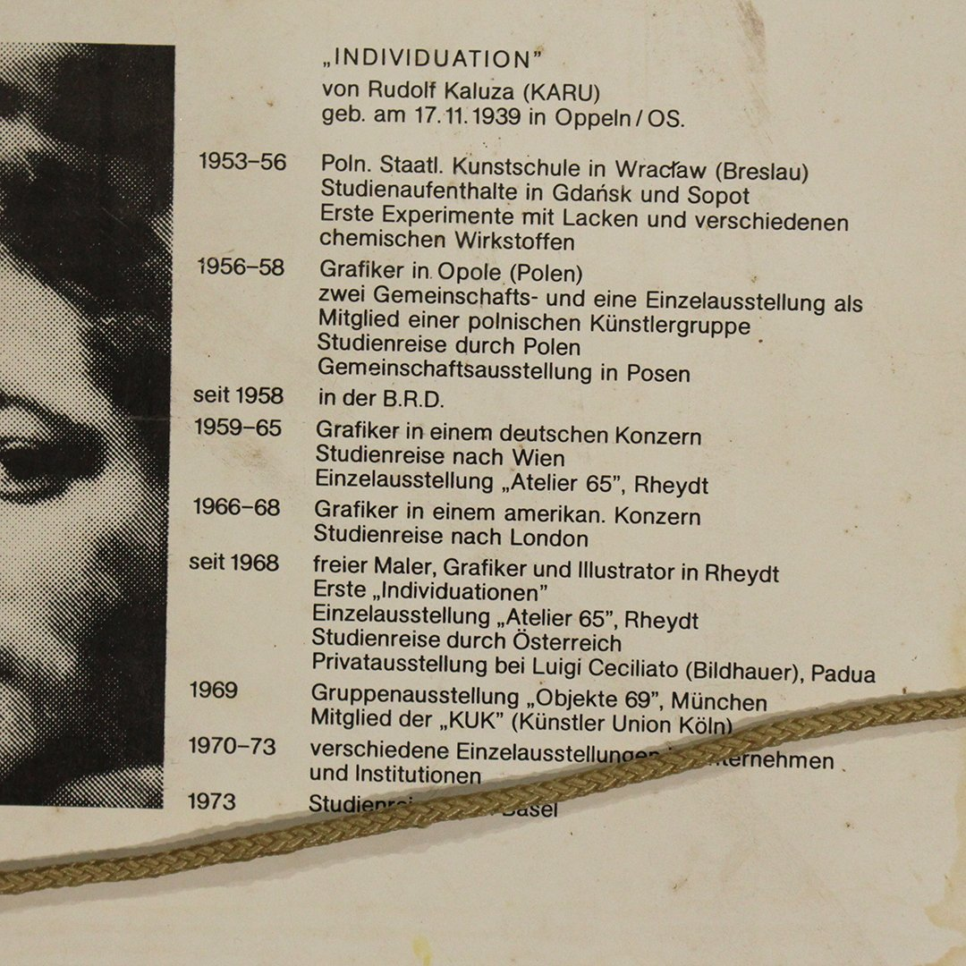 Von Rudolf Karza [Karu], 1970's Abstract Signed, Dated - 5