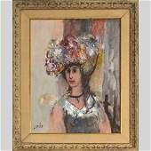 Otto [Banz] Botto Known as Loret, Portrait French Girl