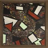 Cruz, Mid Century Modern Latin American Abstract Oil/b