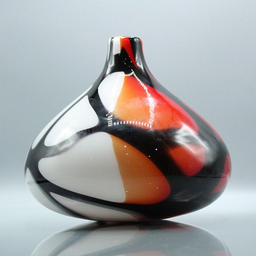 Mid-Century Modern Decorated Italian Art Glass Vase
