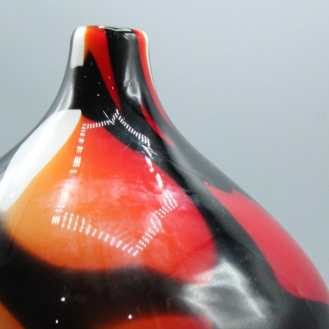 Mid-Century Modern Decorated Italian Art Glass Vase - 2
