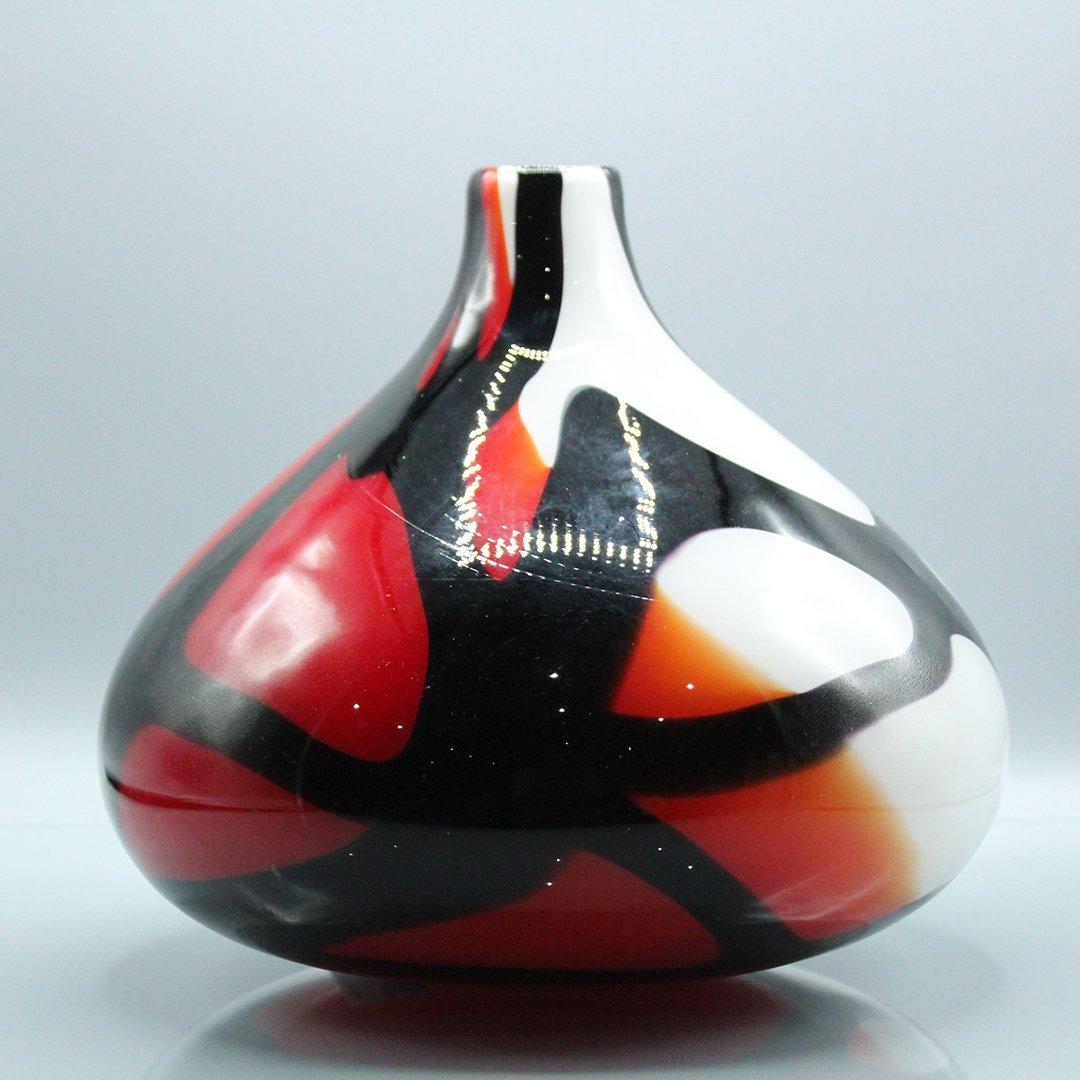 Mid-Century Modern Decorated Italian Art Glass Vase - 3