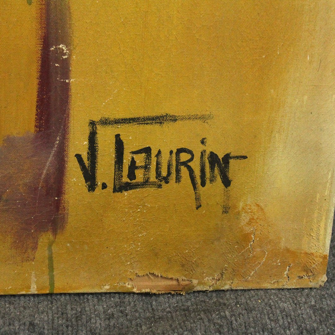 J. Laurin, Large Oil/c Abstract Expressionism, Signed - 3