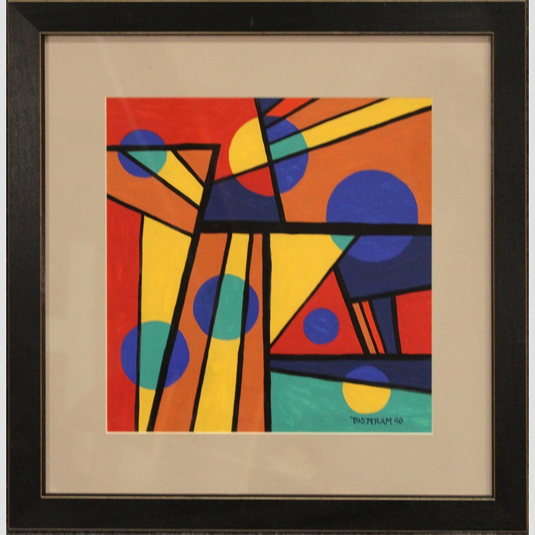 Emil Bisttram 1940, Abstract, Triangles, Lines, Circles