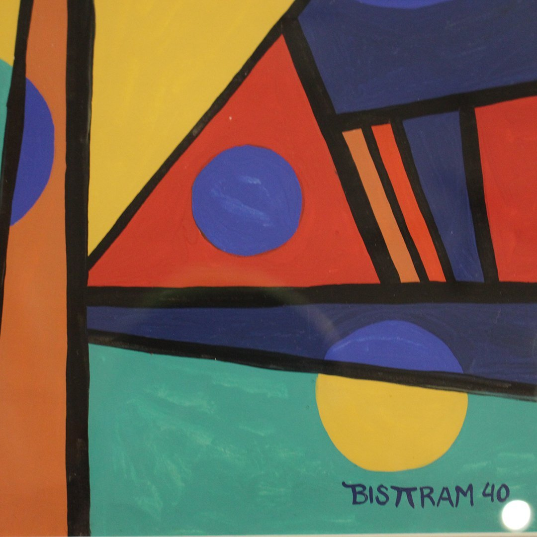 Emil Bisttram 1940, Abstract, Triangles, Lines, Circles - 3