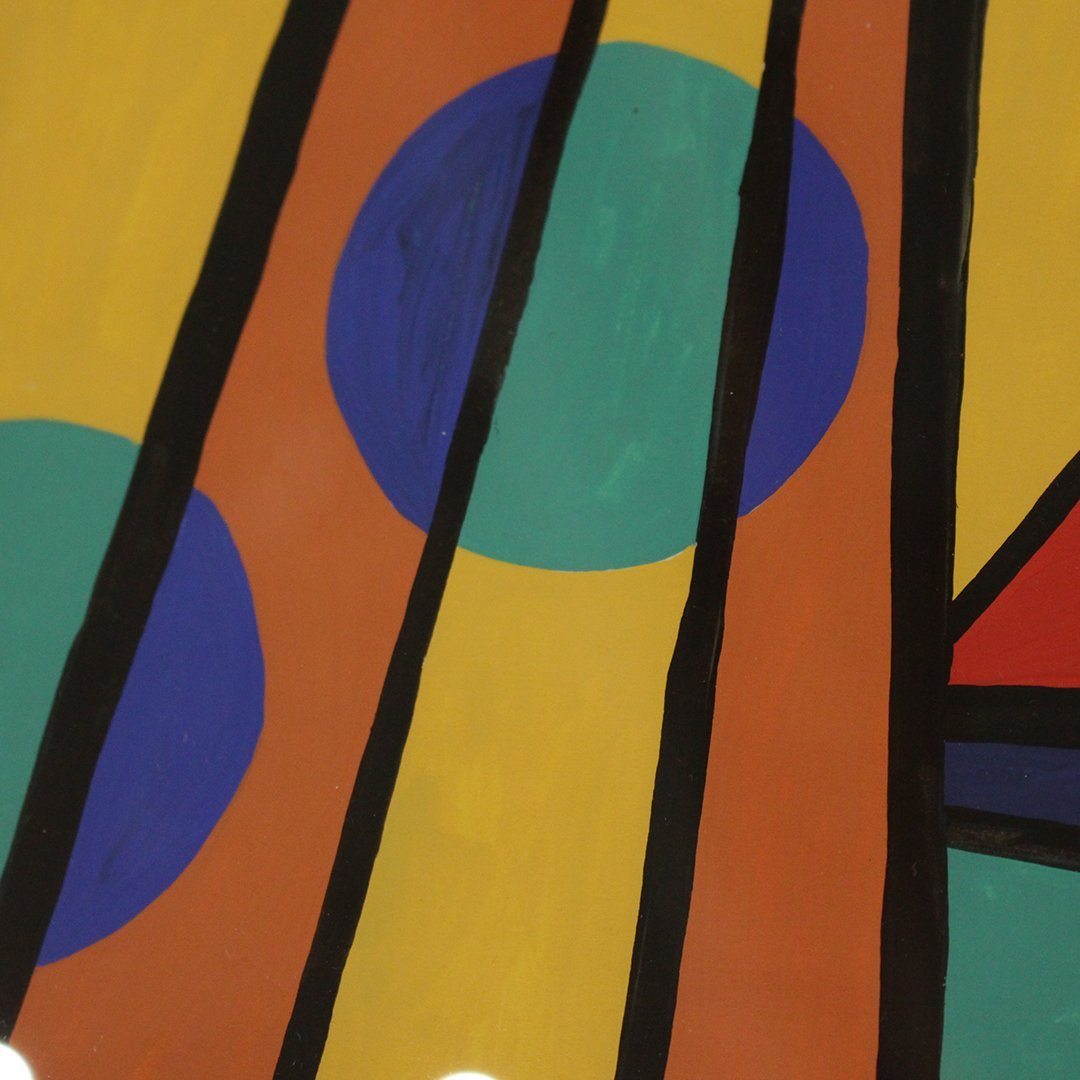 Emil Bisttram 1940, Abstract, Triangles, Lines, Circles - 4