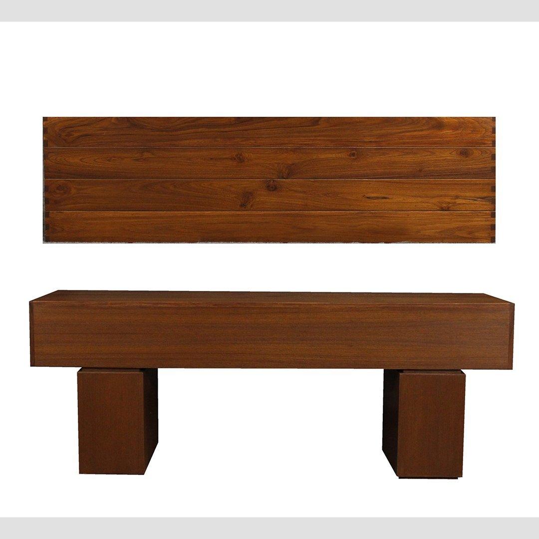 Mid-Century Modern Teak Bench / Stand, Fine Quality