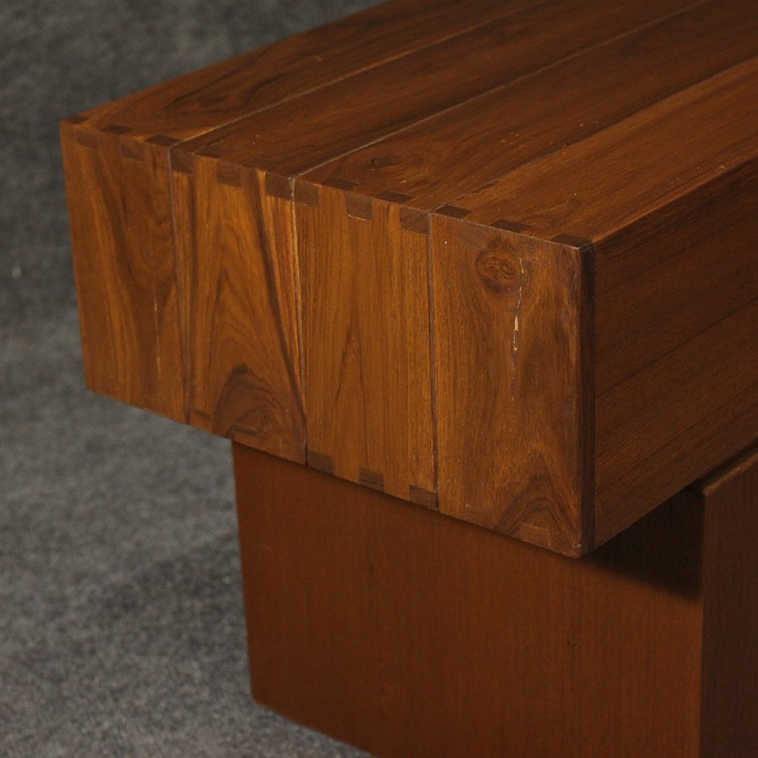 Mid-Century Modern Teak Bench / Stand, Fine Quality - 2