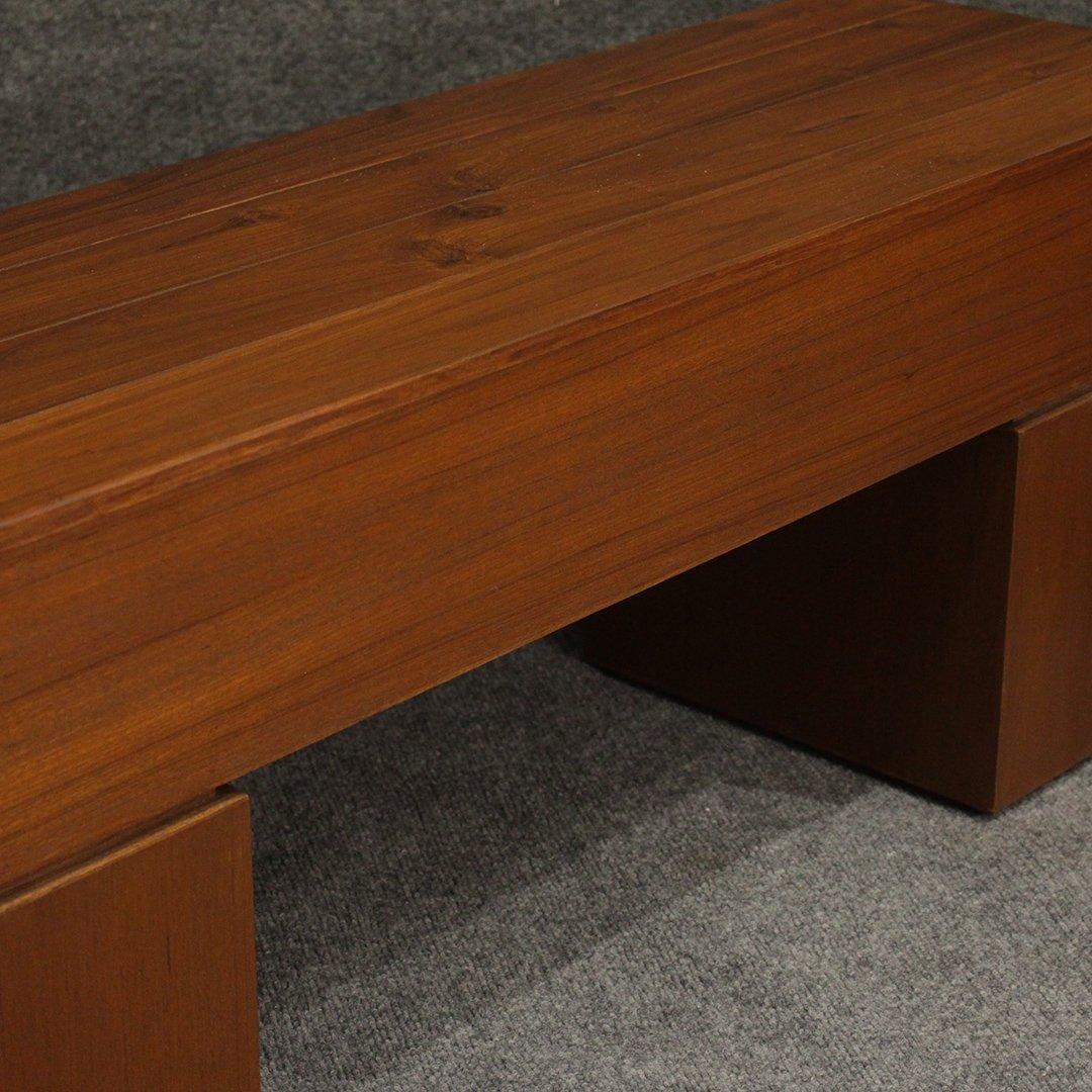 Mid-Century Modern Teak Bench / Stand, Fine Quality - 3